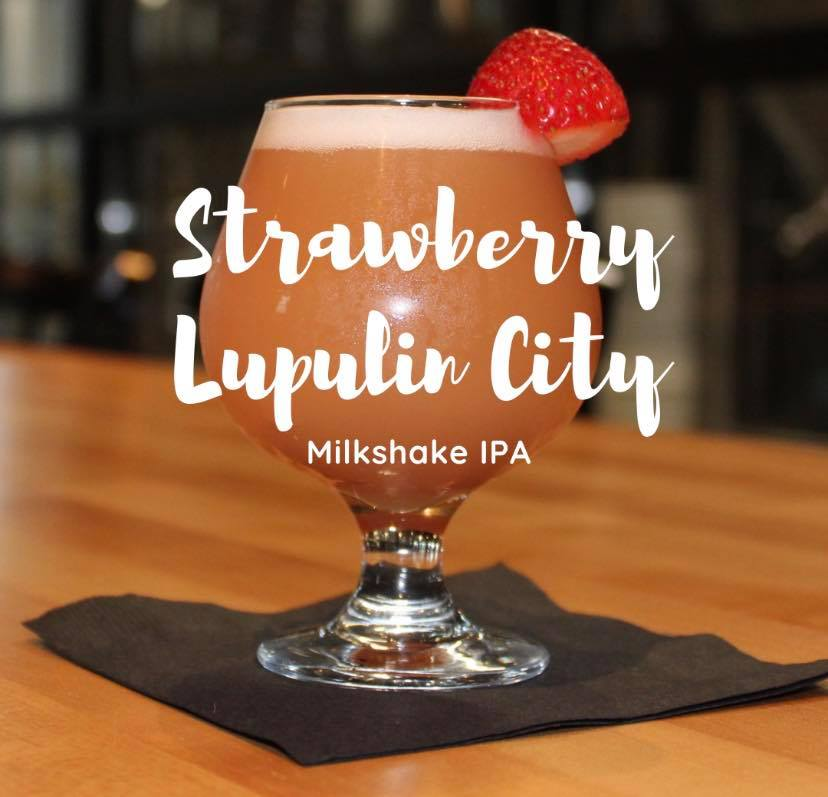 Glass of Strawberry Lupulin City
