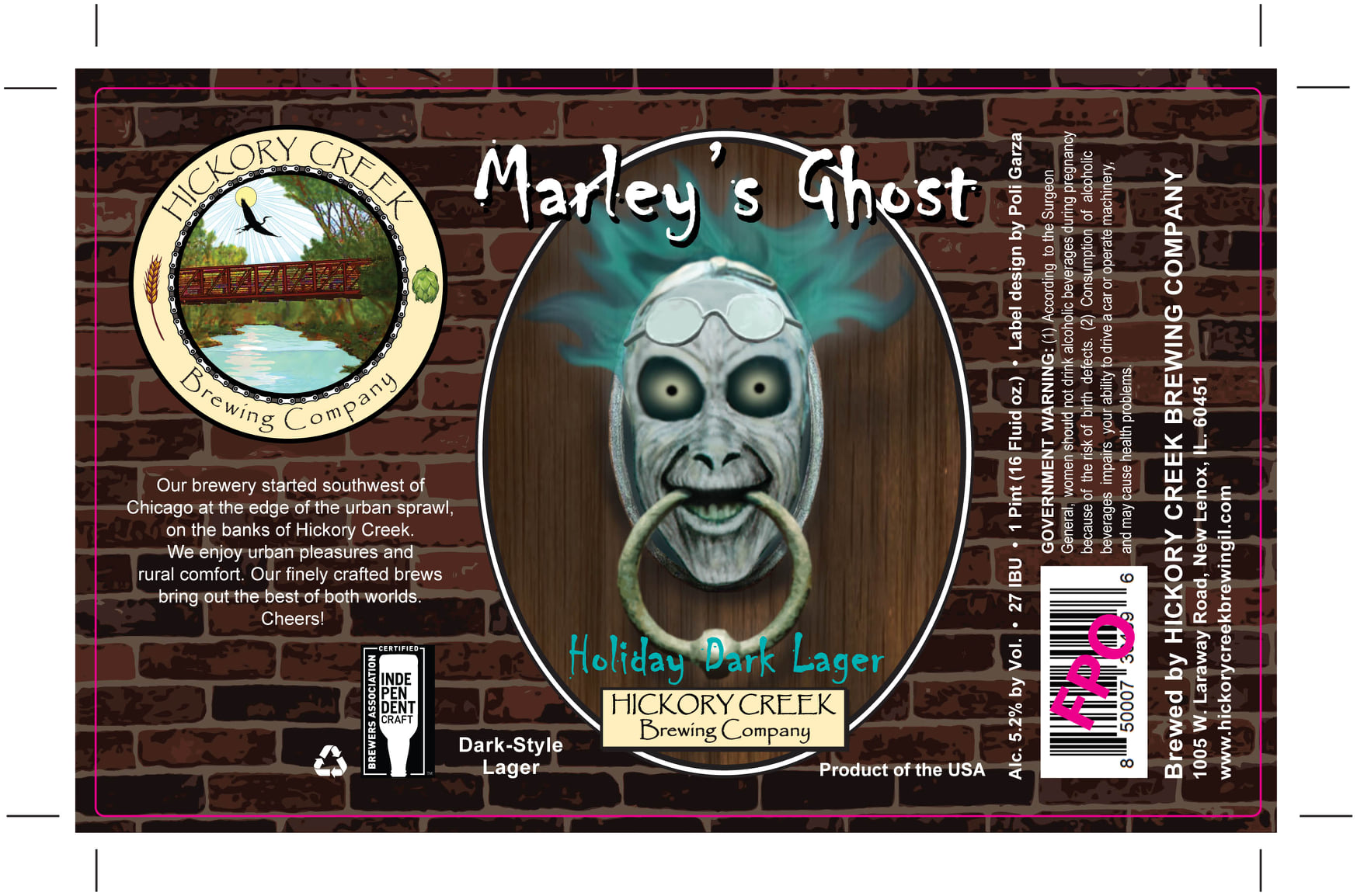 Can Label for Hickory Creek's Marleys Ghost