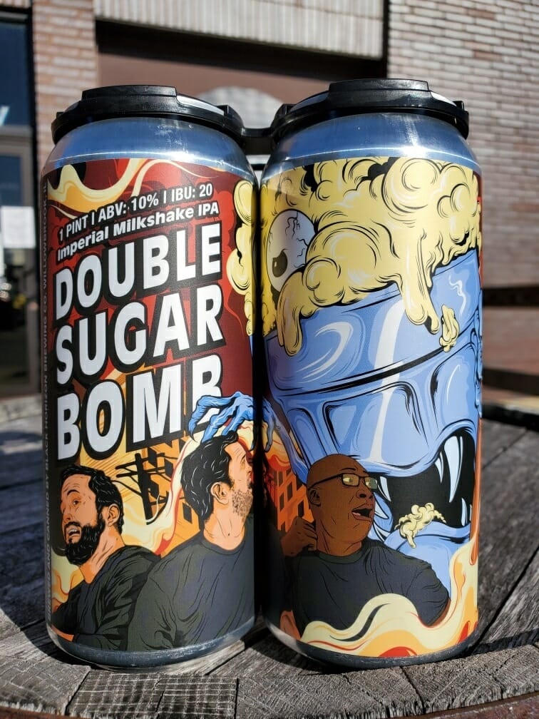 Cans of Double Sugar Bomb from Black Horizon Brewing Company