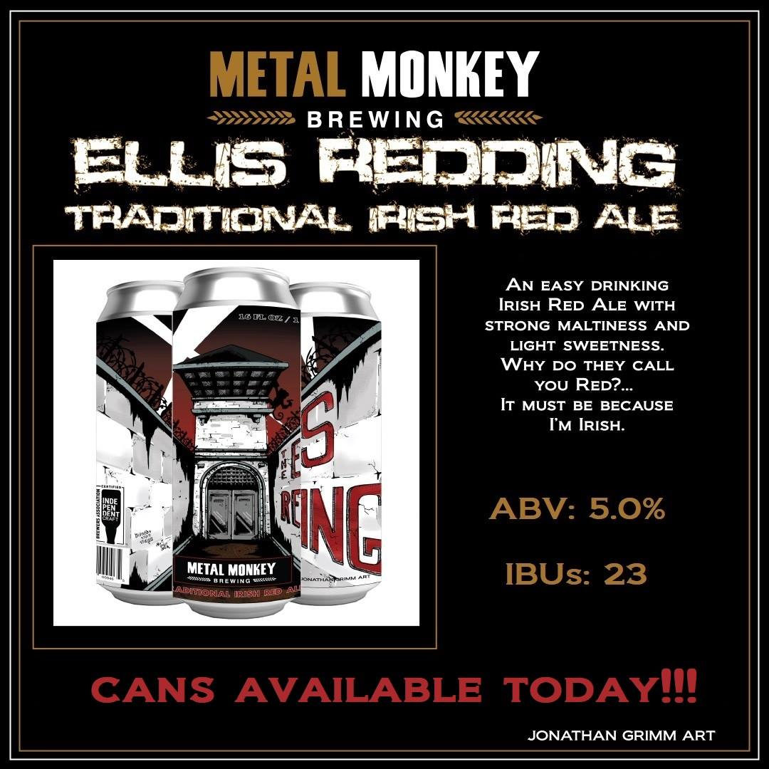 Graphic featuring three cans of The Ellis Redding