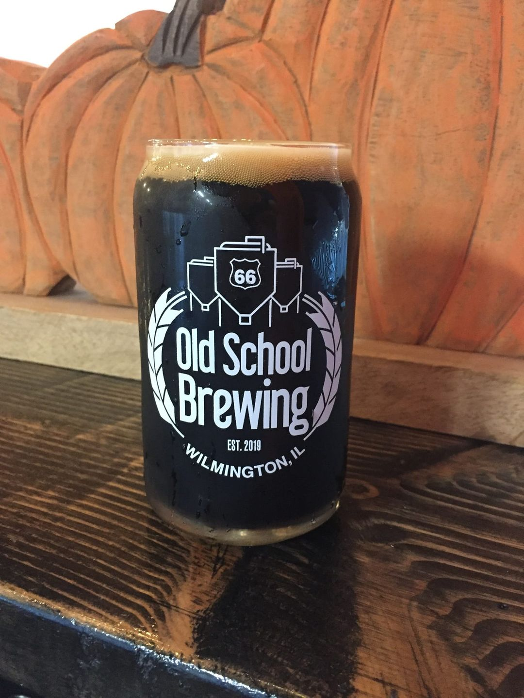 Glass of Pothole Stout from Rt66 Old School Brewing