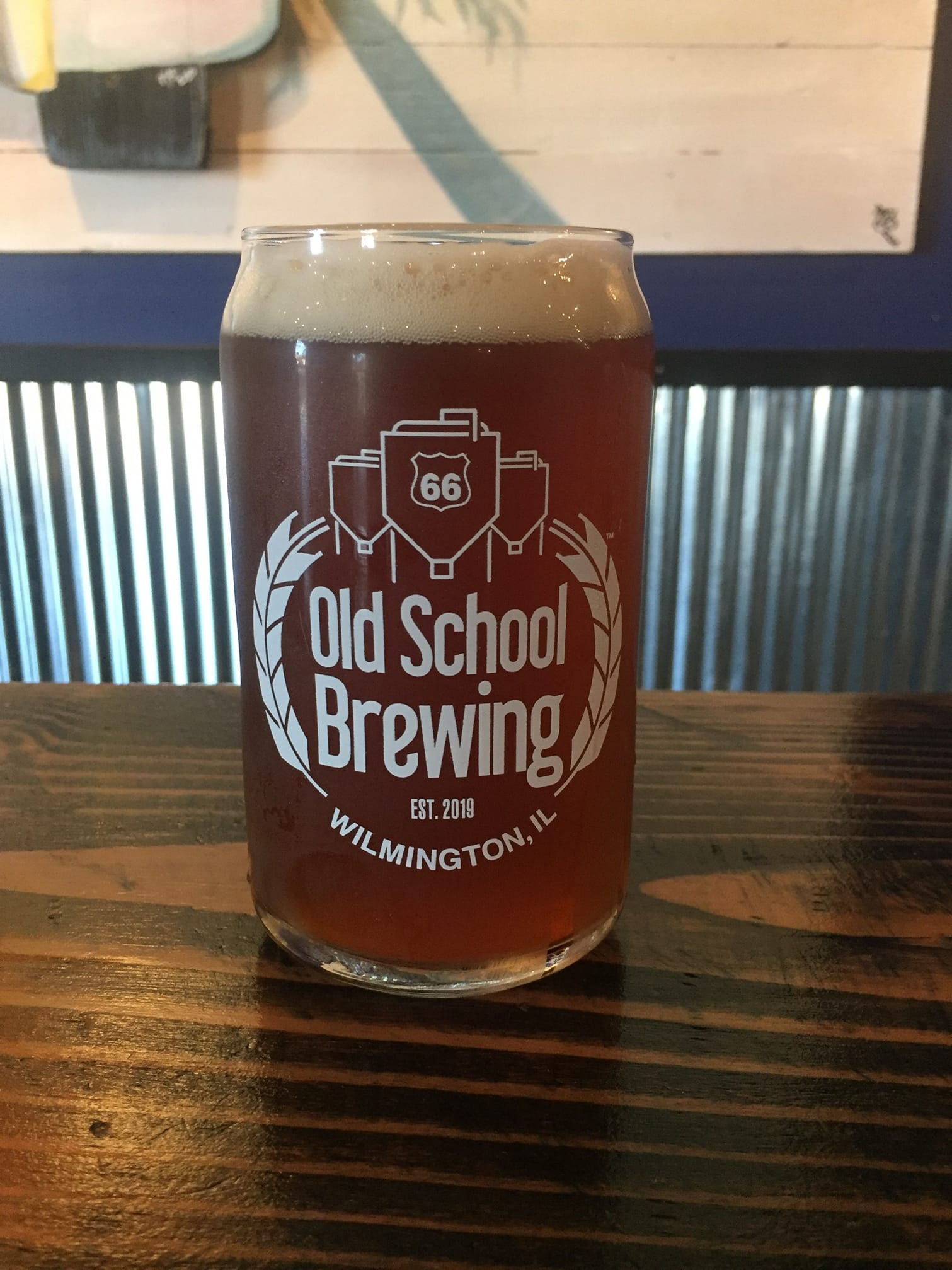 River Bay Red in a glass from Rt66 Old School Brewing