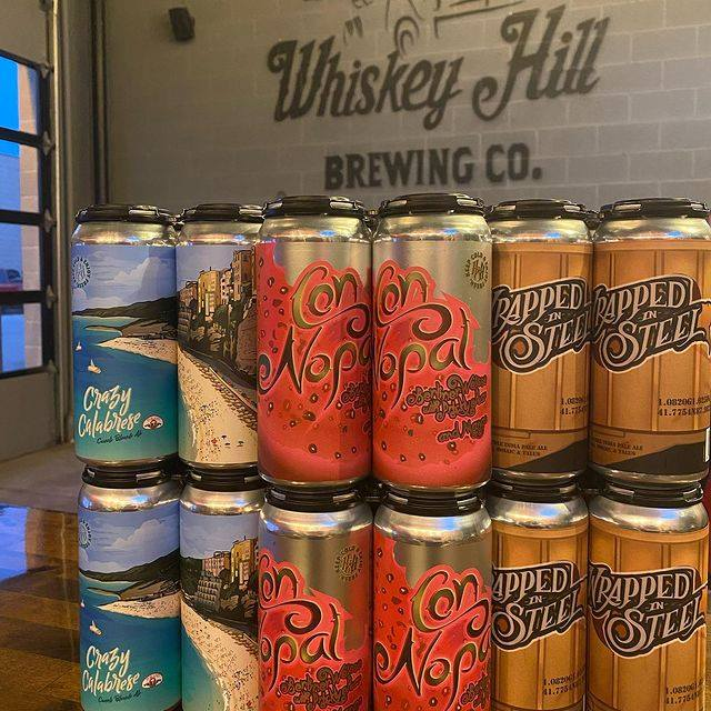 Cans from Whiskey Hill Brewing Co.