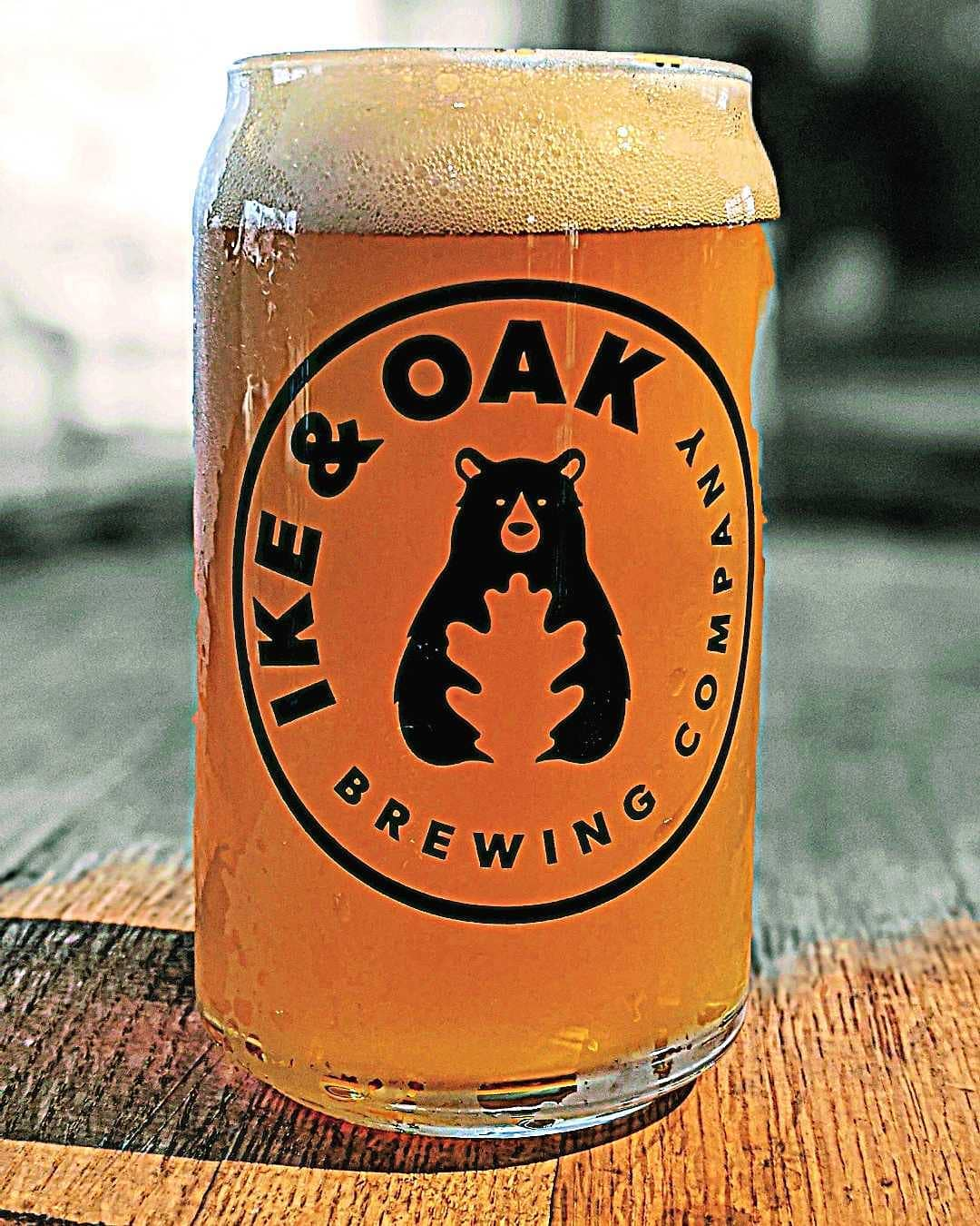 Full glass of Ike & Oak's Broken Carabiner