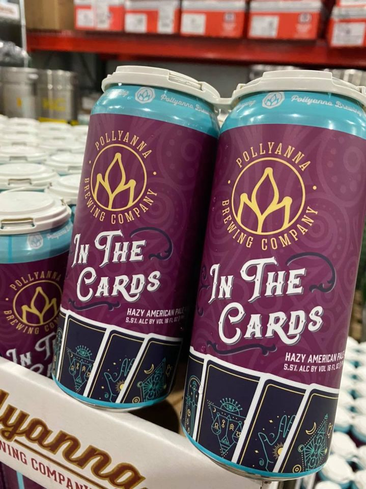 Cans of In The Cards from Pollyanna Brewing Company