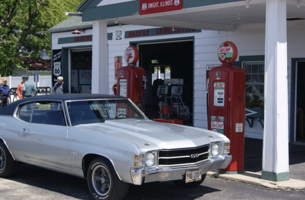 Car pulled up to Ambler's Texaco Station