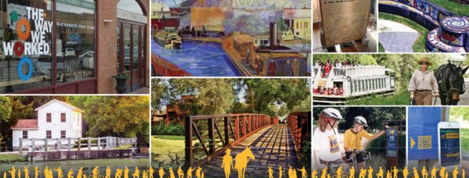 A collage of places along the I&M canal