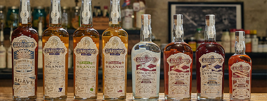 eight of star union spirits products