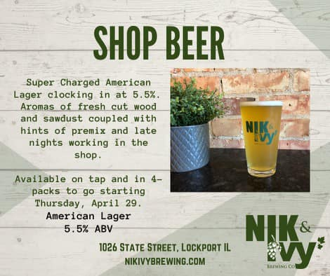 Glass of Shop Beer from Nik & Ivy Brewing