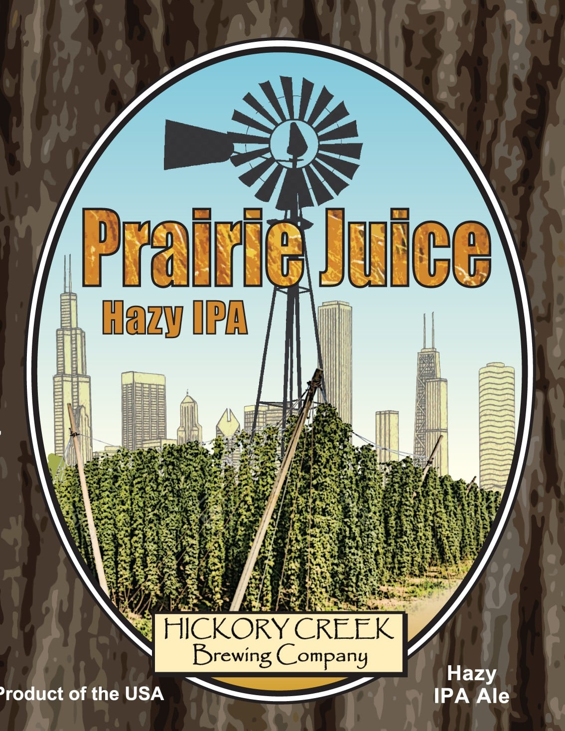 Label from Hickory Creek Brewing's Prairie Juice