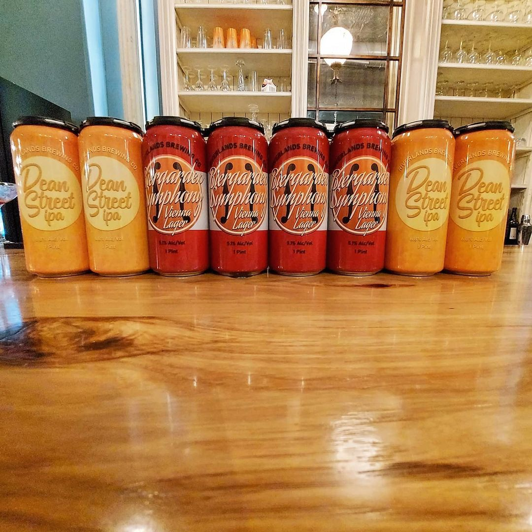 Several cans lined in a row at Catseye ottawa