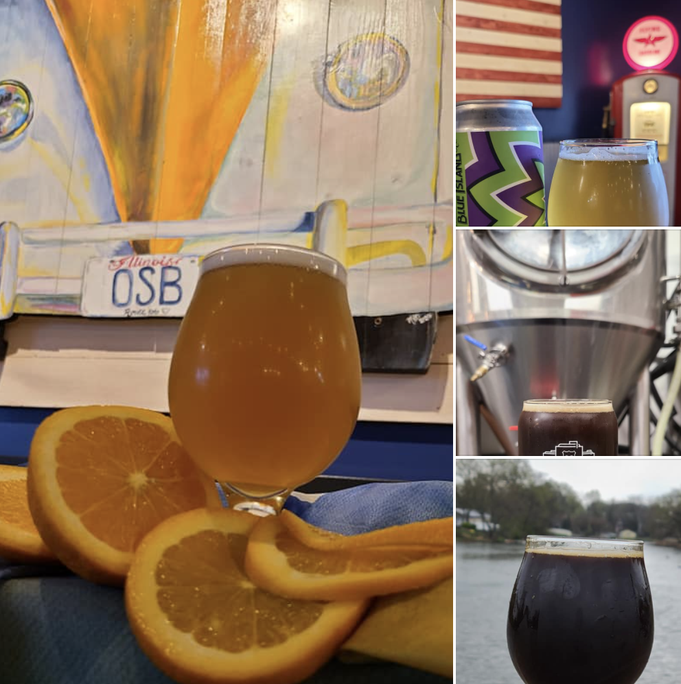 Screenshot of four different beers from Rt66 Old School Brewing in Wilmington, IL