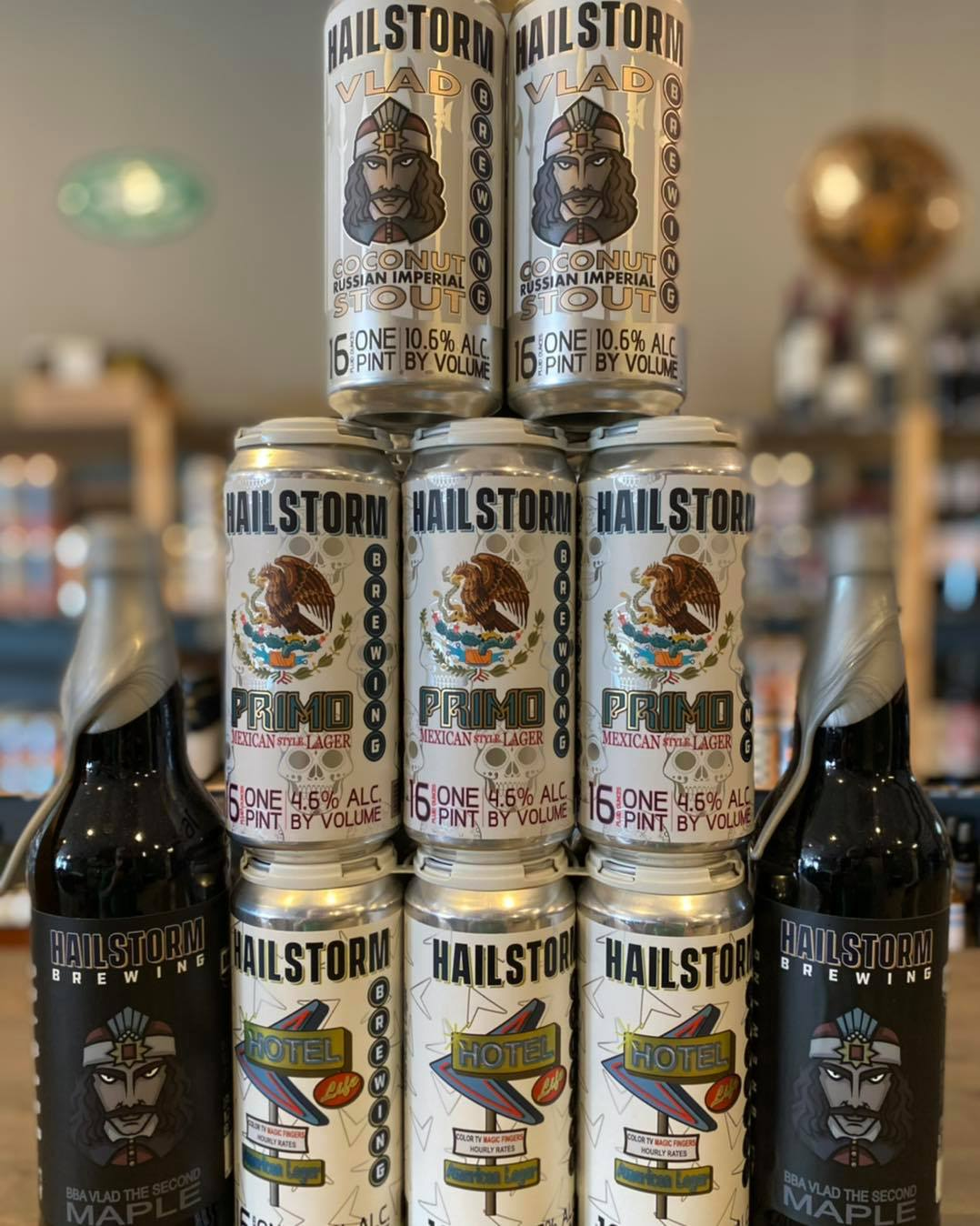 Beers from Hailstorm Brewing