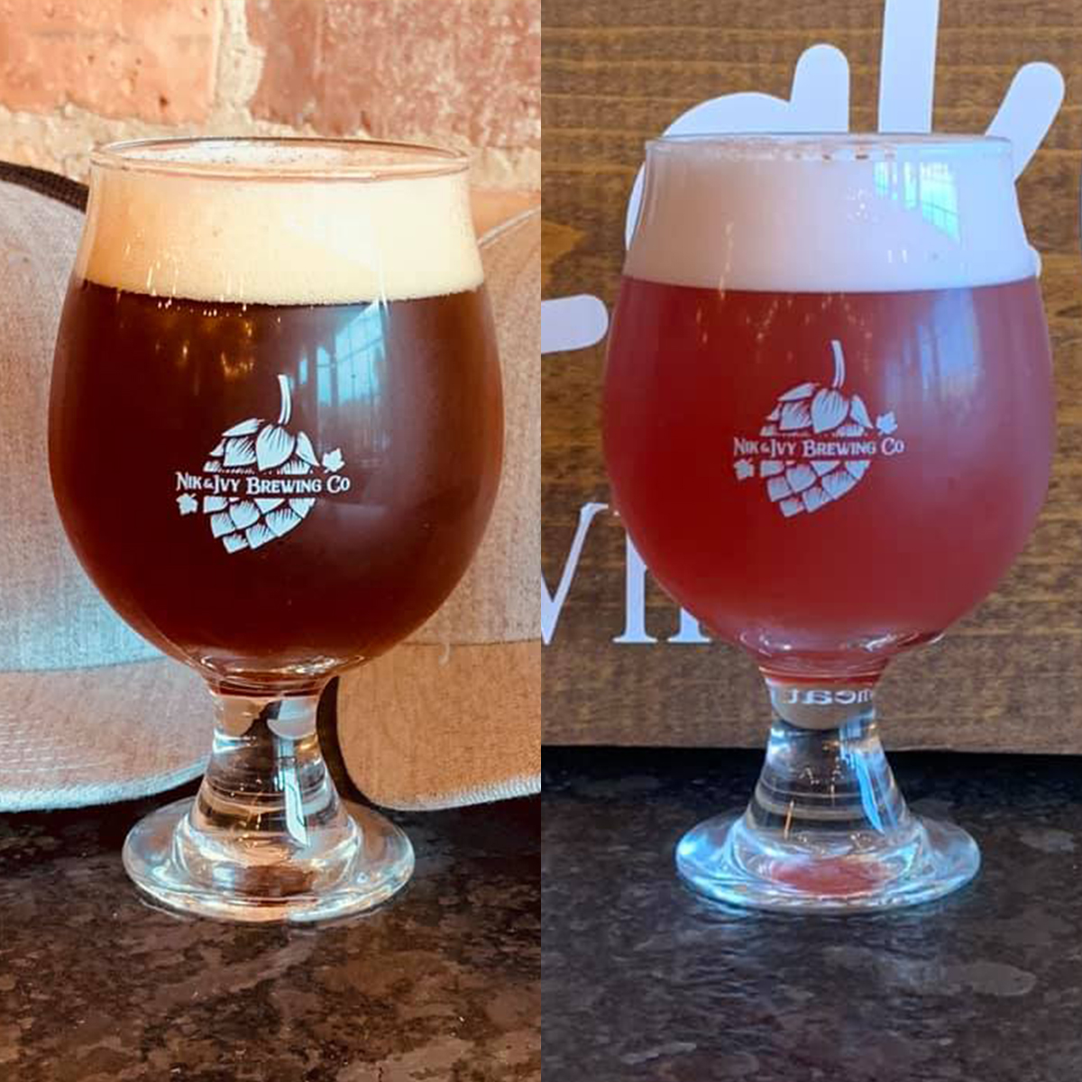 Two brews from Nik and Ivy Brewing in Lockport