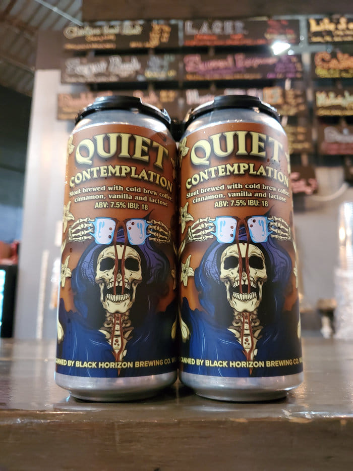 Cans of Quiet Contemplation from Black Horizon Brewing