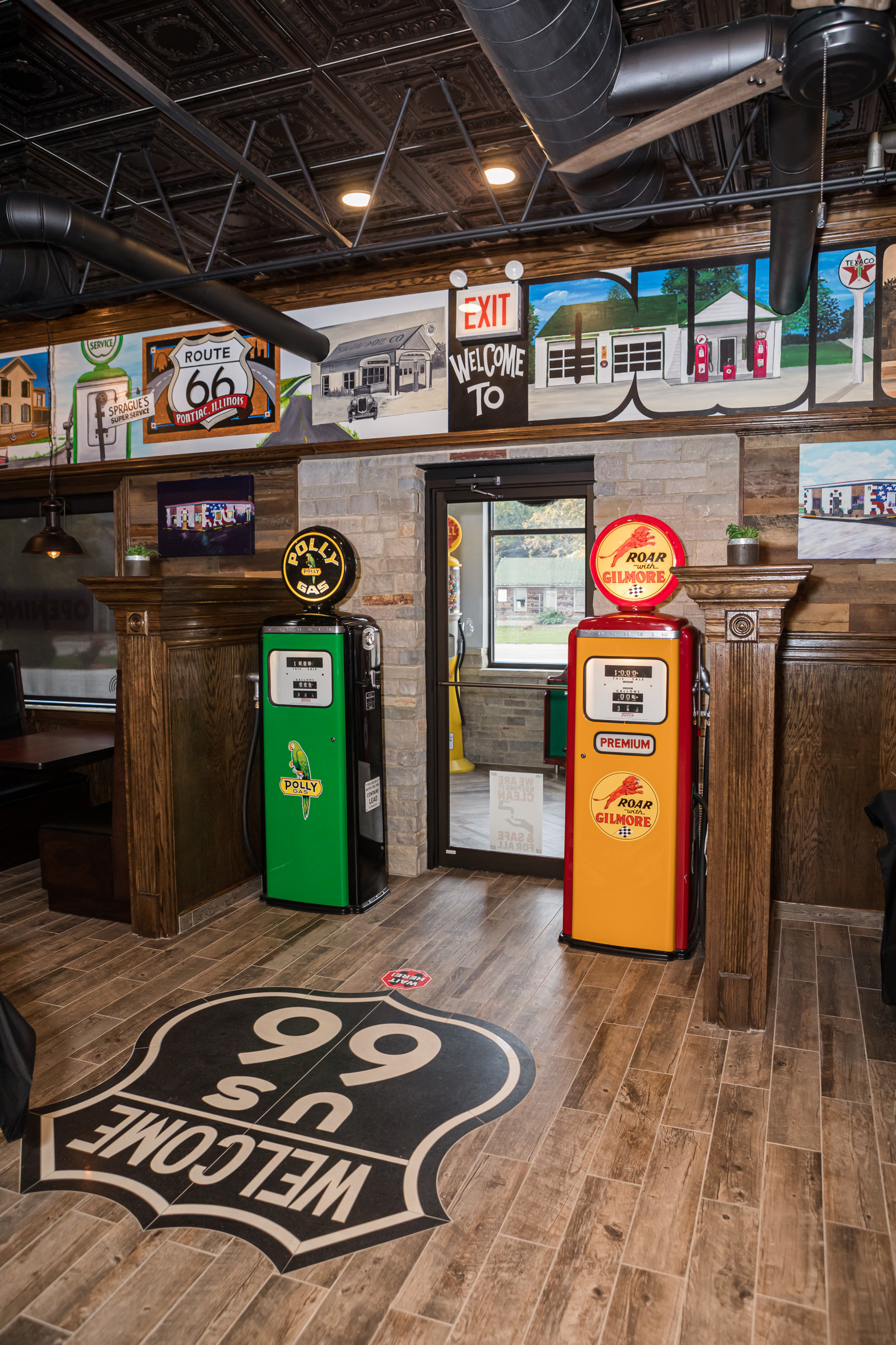 inside of the old Route 66 family restaurant