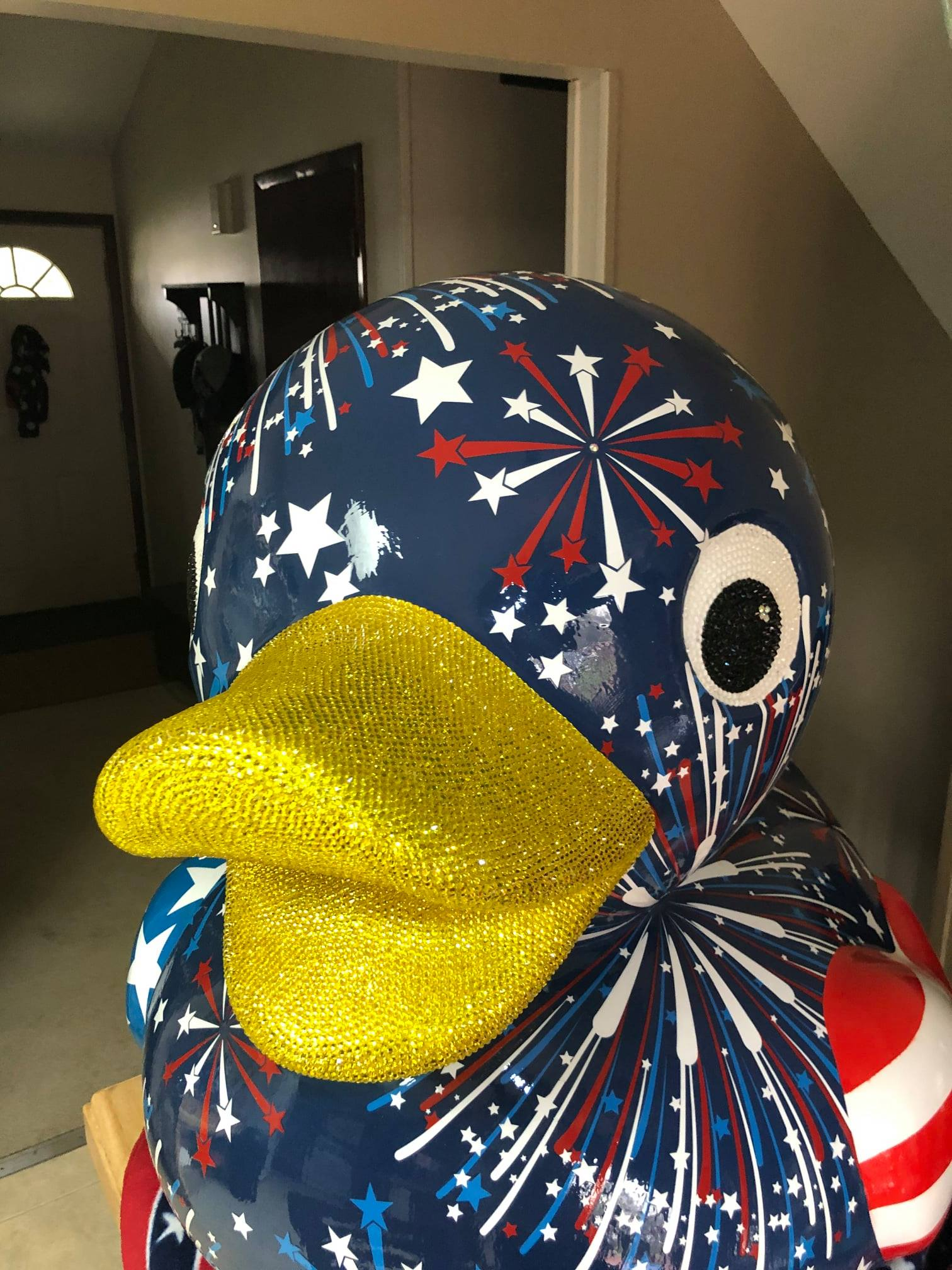 3 foot tall duck painted