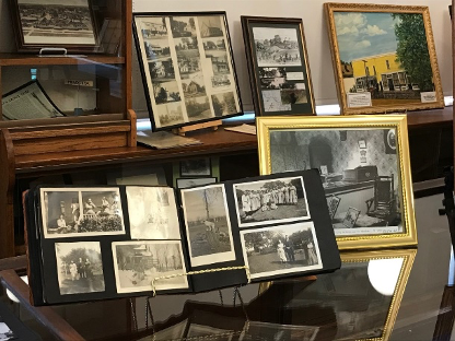old photos of Mendota's history on display at the Mendota museum