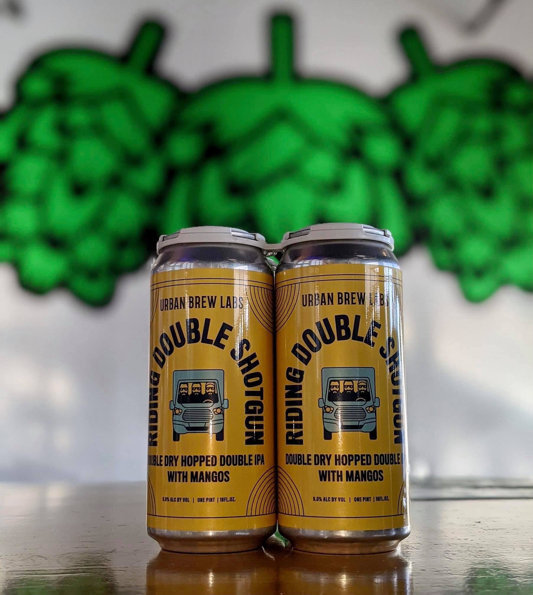 Four Pack of Riding Double Shotgun by Urban Brew Labs and Will County Brewing