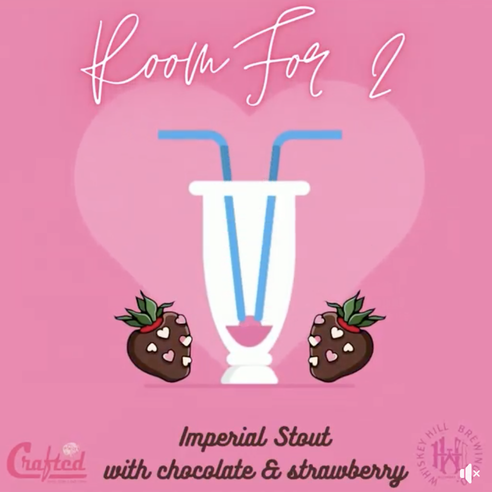 Room For Two (graphic of a glass with two chocolate covered strawberries surrounding it)