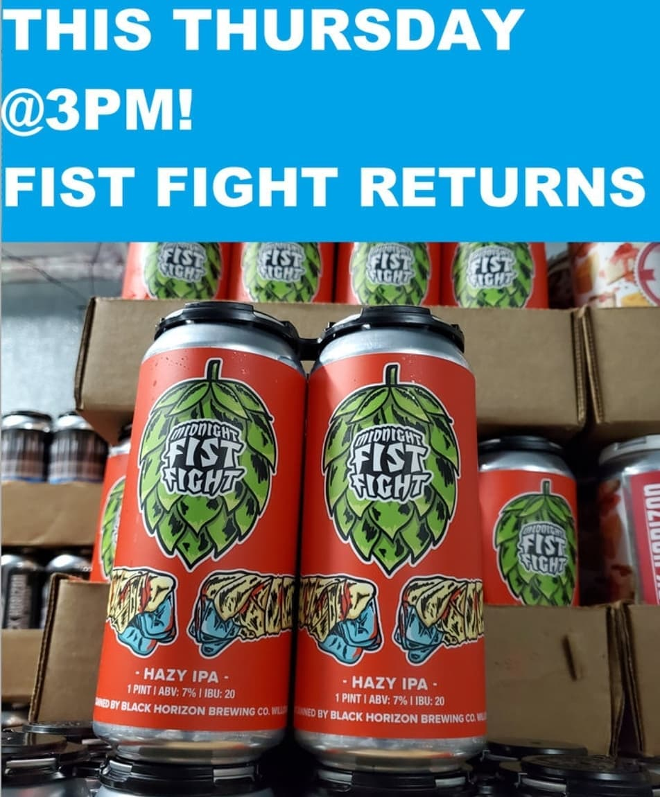 Several cans of Midnight Fist Fight