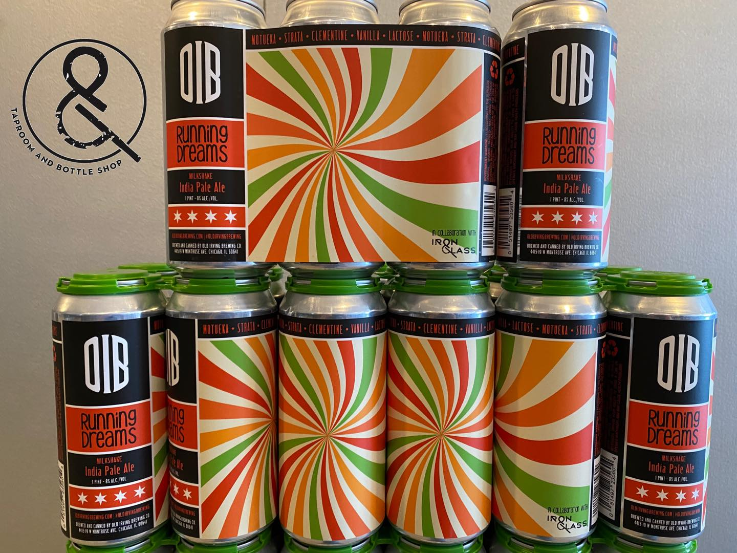 Cans of Running Dreams by Old Irving Brewing Co and Iron&Glass