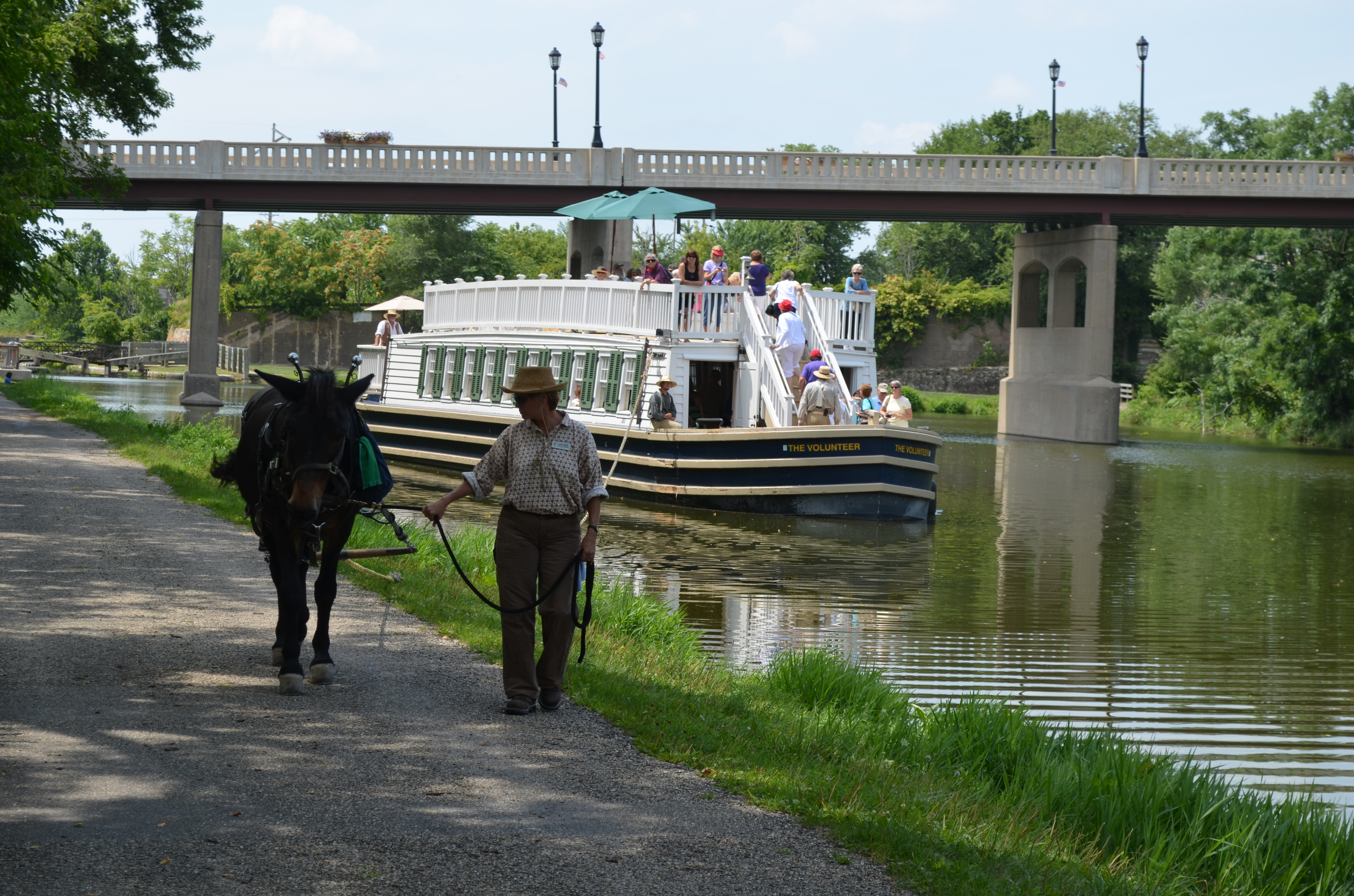 The Mule-pulled I&M Canal Boat in LaSalle, IL
