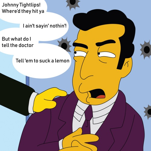Johnny Tightlips from The Simpsons