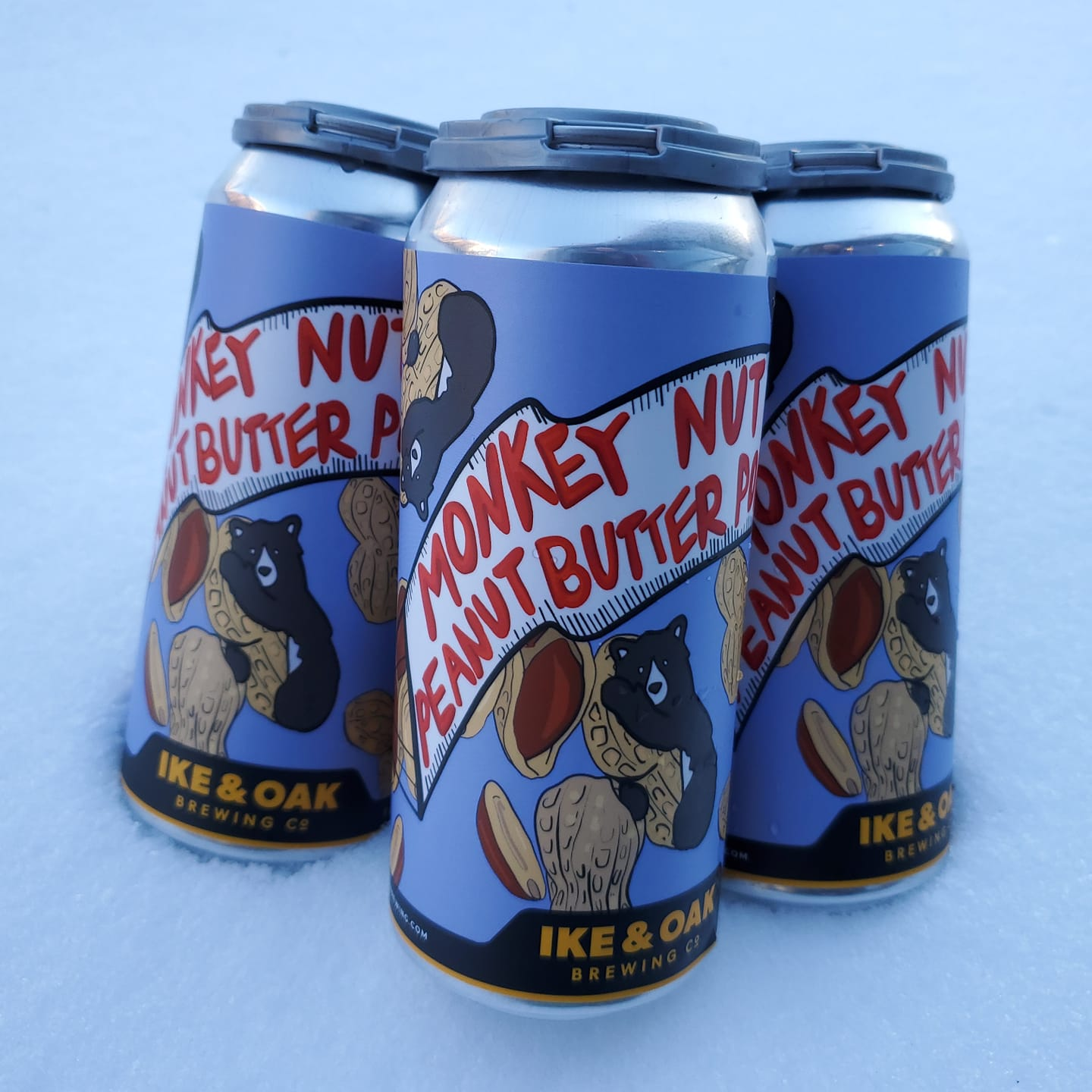 Four pack of Monkey Nut Peanut Butter Porter