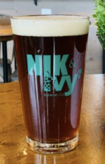 Glass of beer from Nik and Ivy Brewing in Lockport