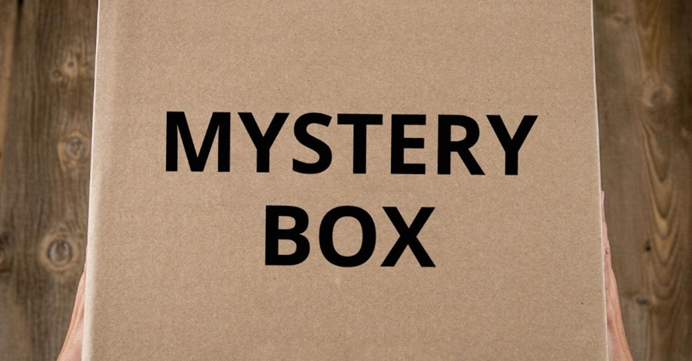 Box with the words Mystery Box on them
