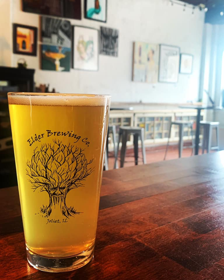 Elder Brewing Company's EZ Times IPA in a glass