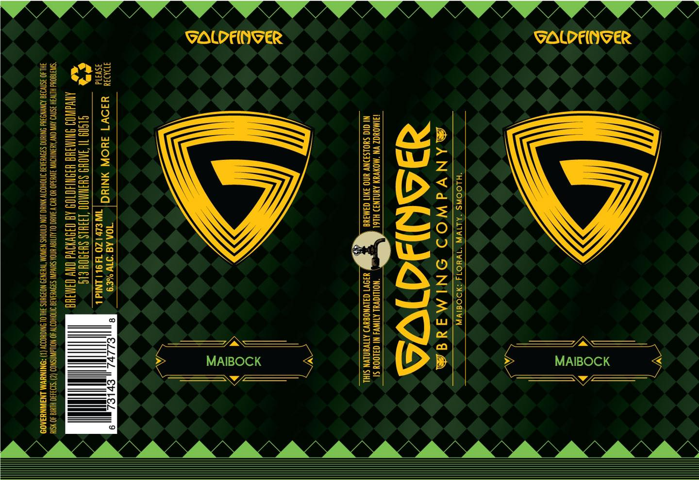Label for Goldfinger's Maibock