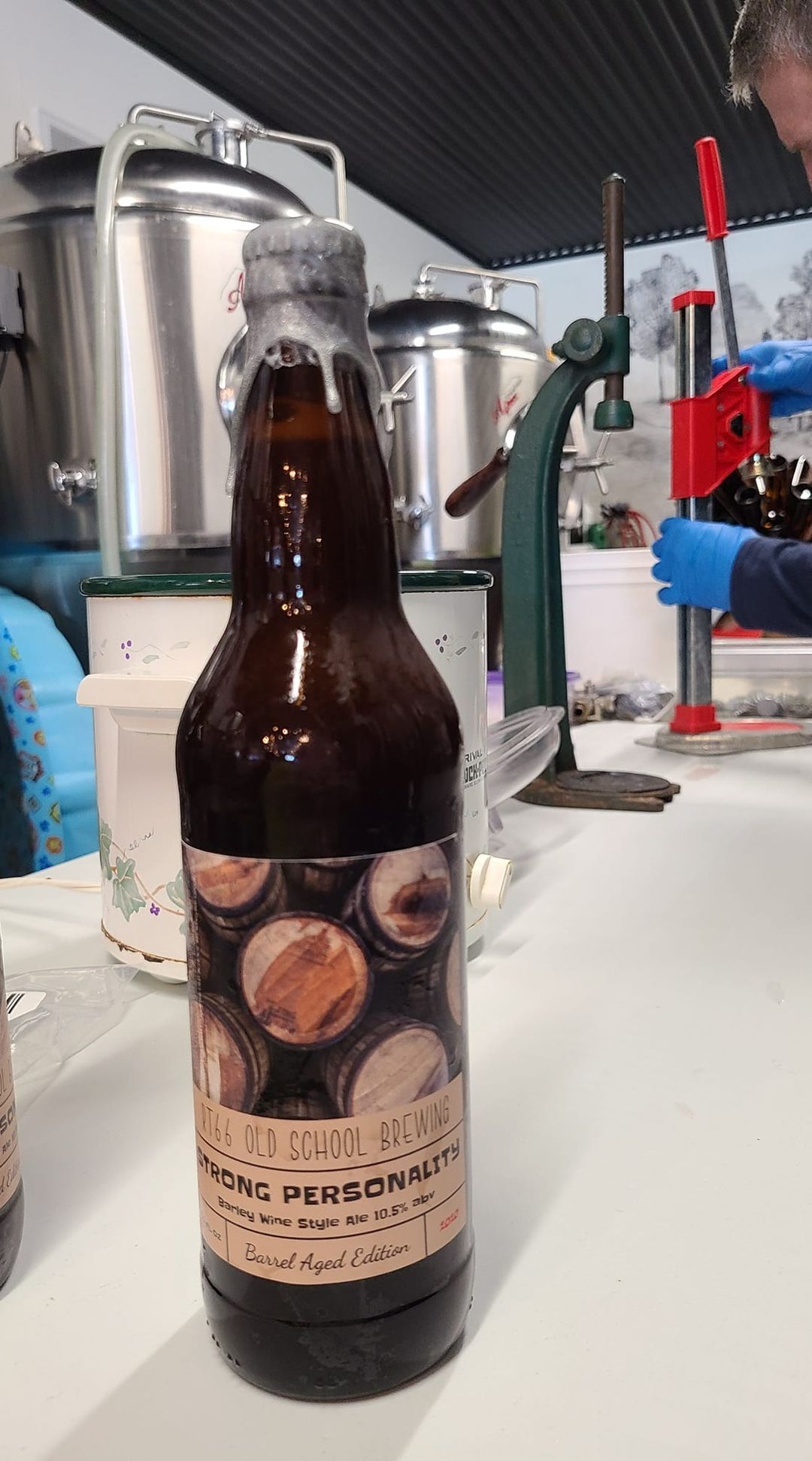 Bottle of Rt66 Old School Brewing's Storng Personality