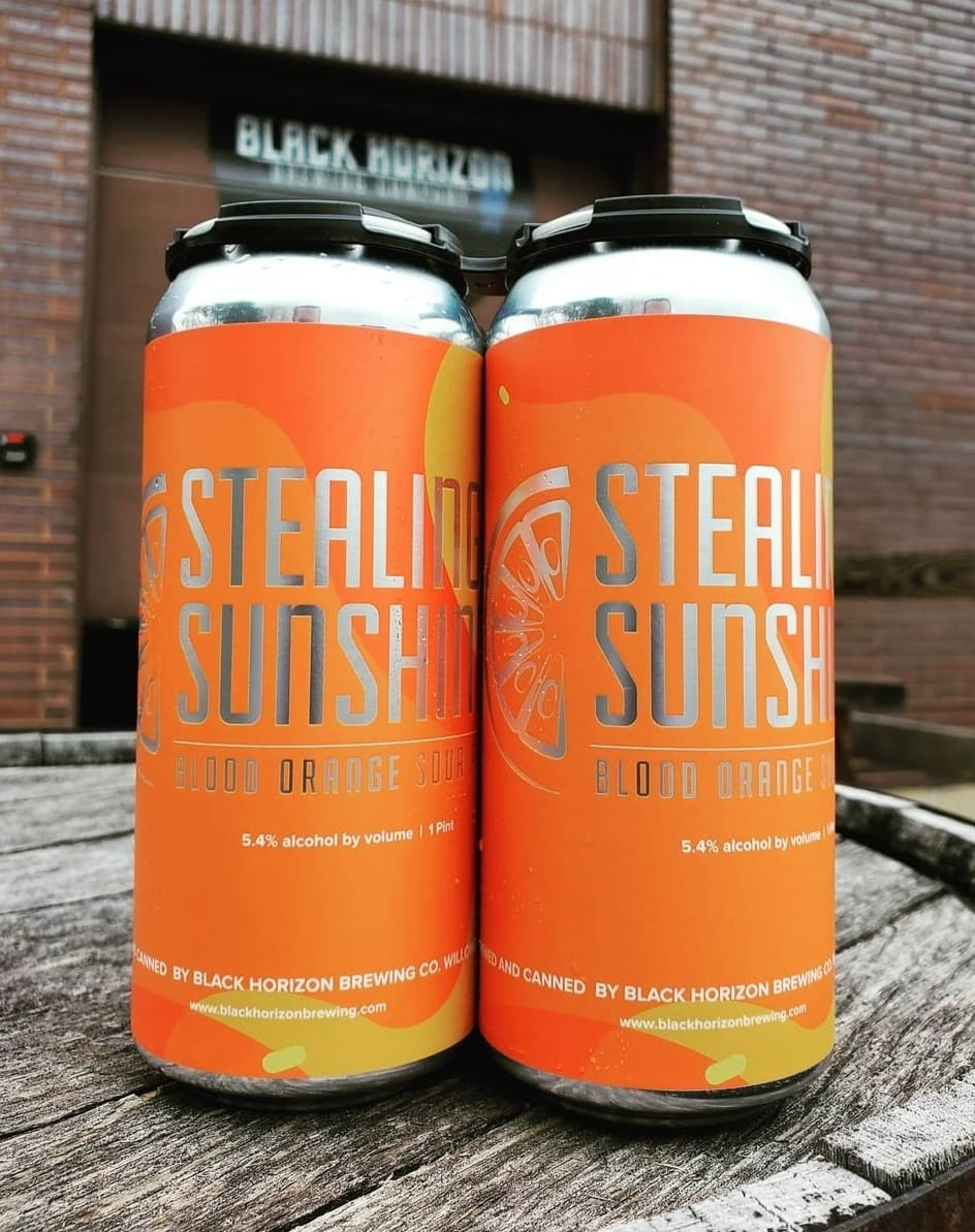 Cans of Stealing Sunshine from Black Horizon Brewing Company