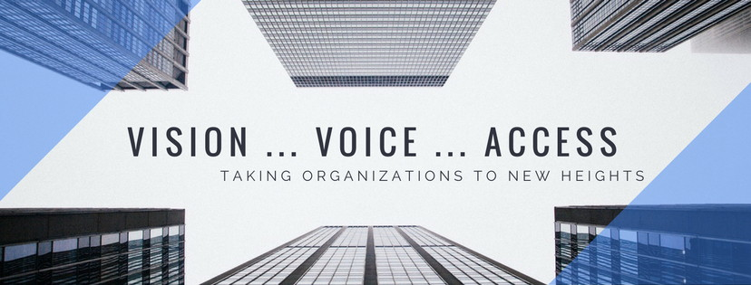 Chamber Graphic - Text:  Vision ... Voice ... Access ... Taking Organizations to New Heights