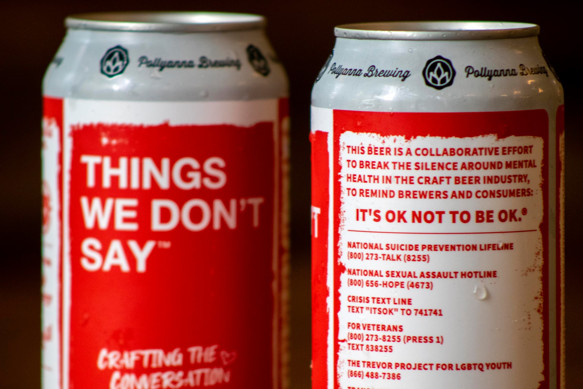 Can's of Pollyanna Brewing Co's Things We Don't Say