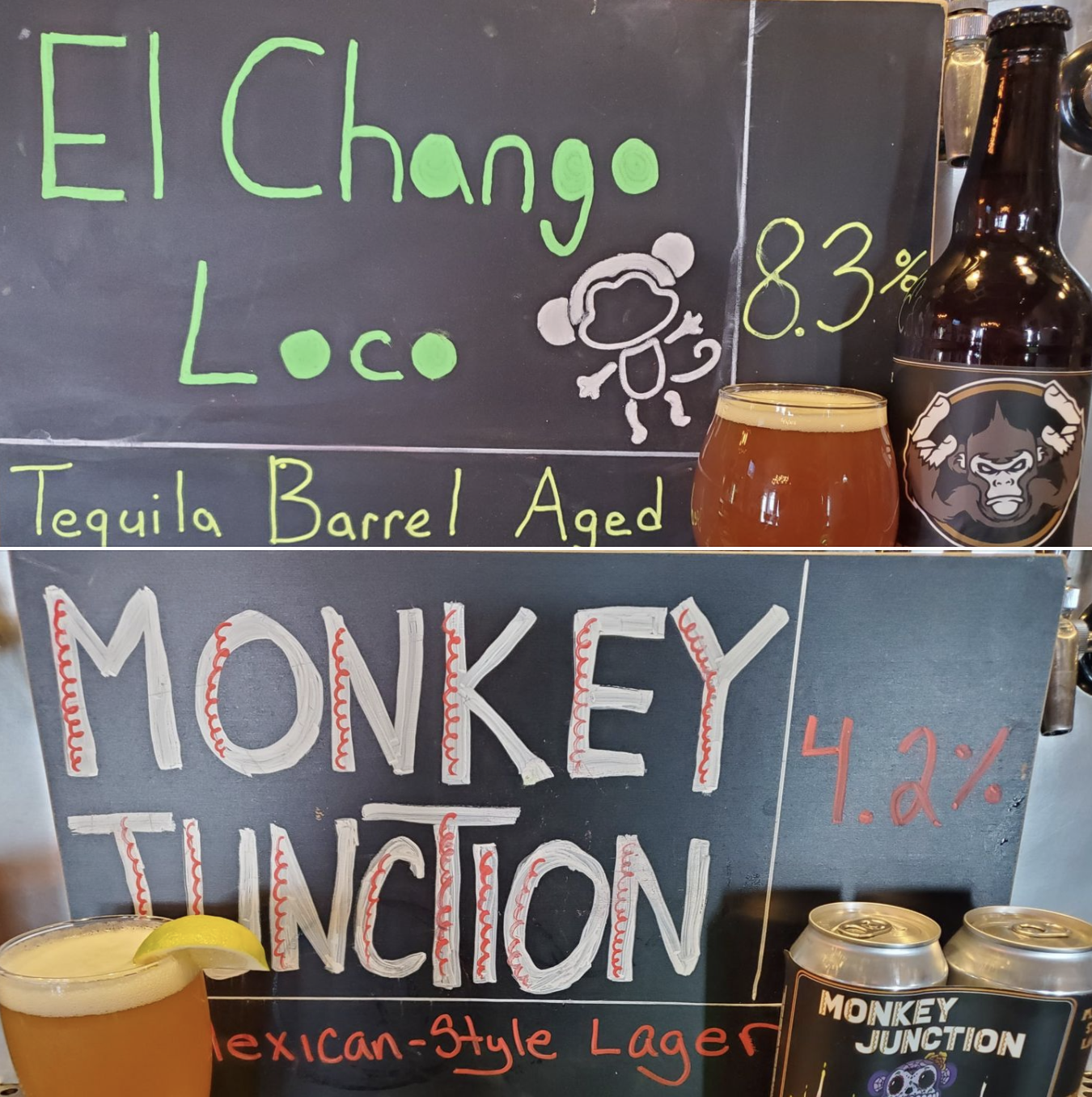 Graphic featuring Monkey Junction, El Chango Loco, and Tone Capone's tacos