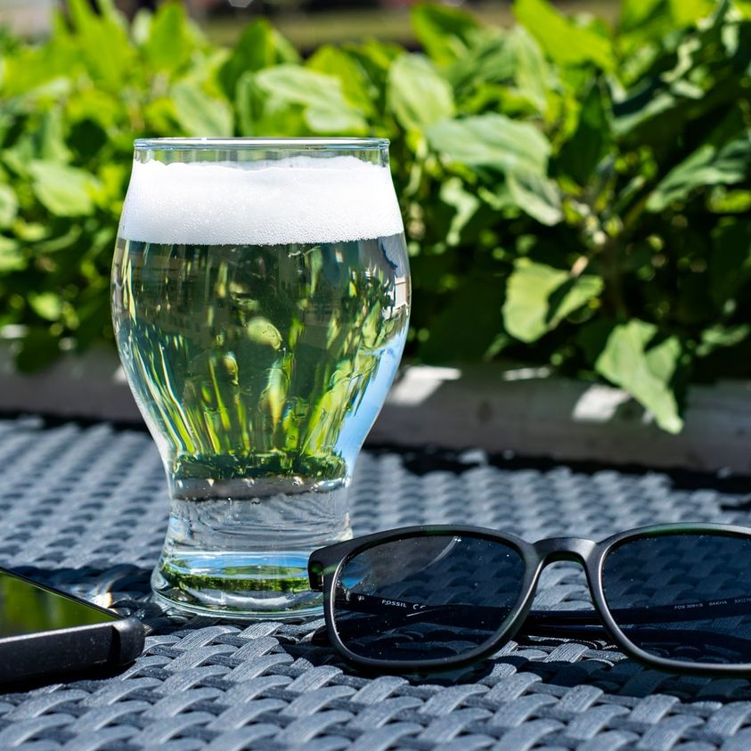 Glass of seltzer from Alter Brewing Company