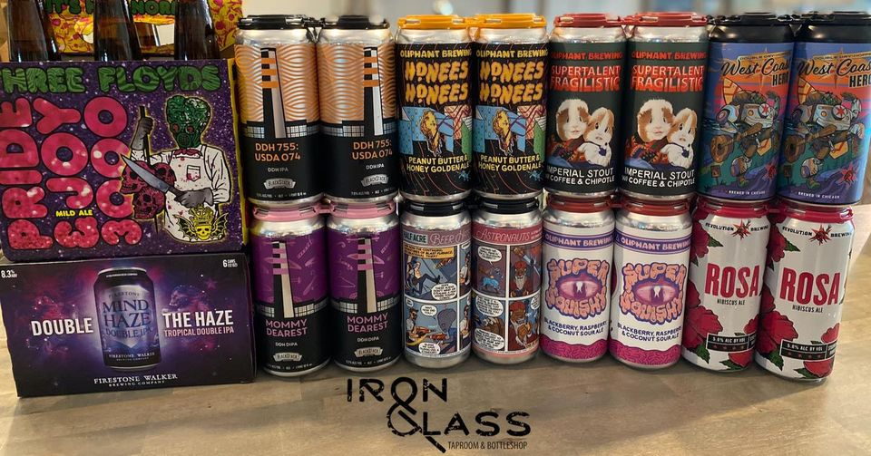 Many different beers at Iron&Glass Romeoville