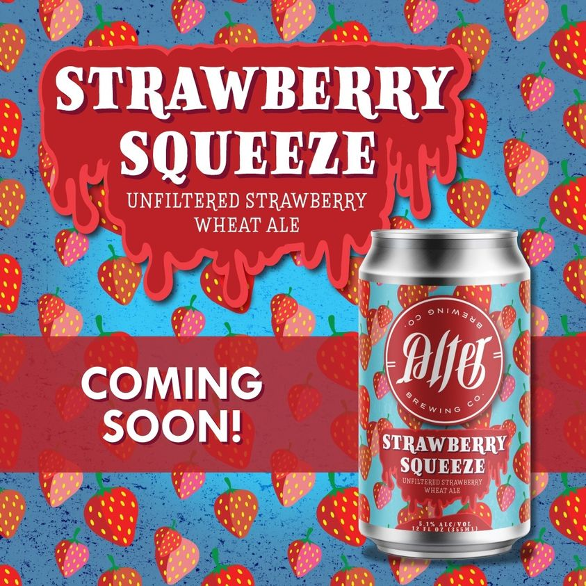 Coming Soon Graphic for Alter's Strawberry Squeeze