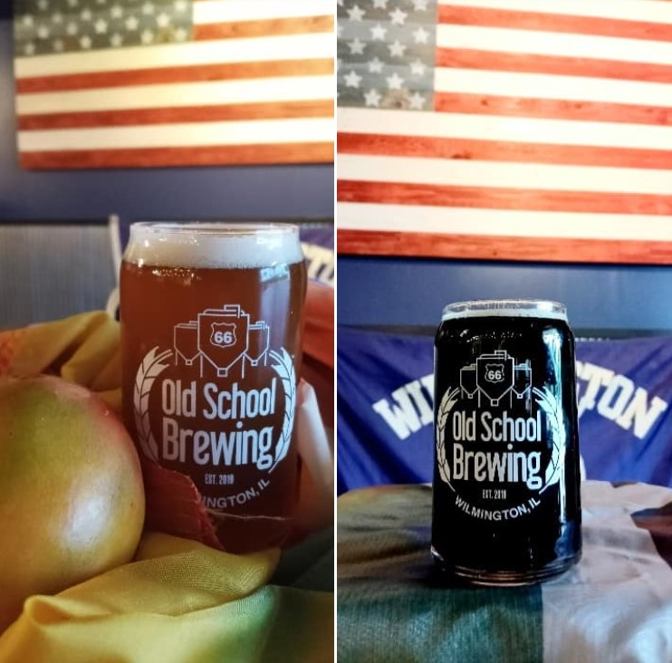 Two beers from Rt66 Old School Brewing