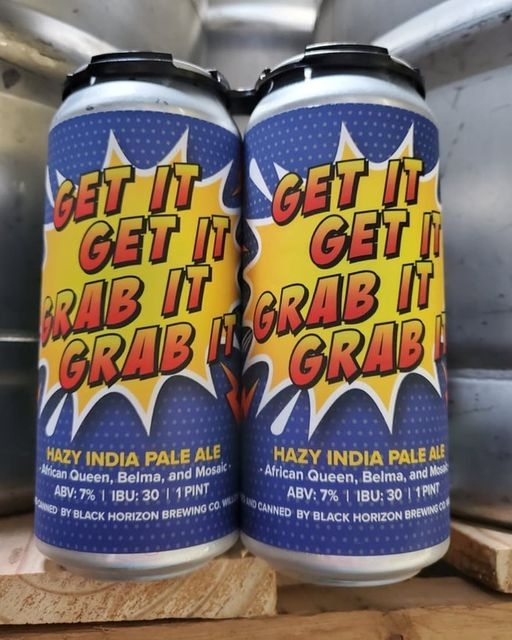 4 pack of cans from Black Horizon Brewing