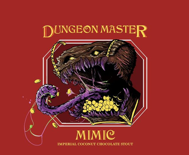 Label for Mimic by Miskatonic Brewing Company