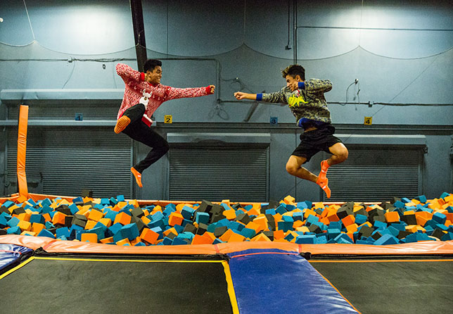 Jumping at Sky Zone Joliet
