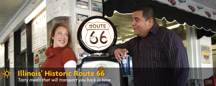 Illinois' Historic Route 66 - tasty meals that will transport you back in time