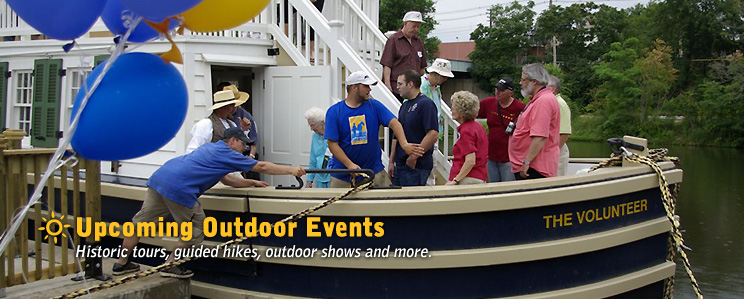 Upcoming Outdoor Events - Historic tours, guided hikes, outdoor shows and more.