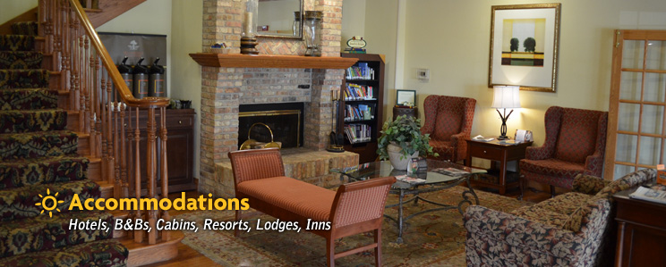 Accommodations: Hotels, B&Bs, Cabins, Resorts, Lodges, Inns