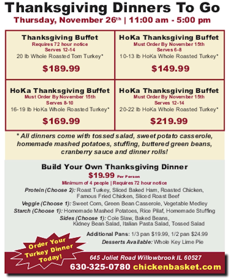 Thanksgiving Buffet and Build Your Own Thanksgiving Dinner